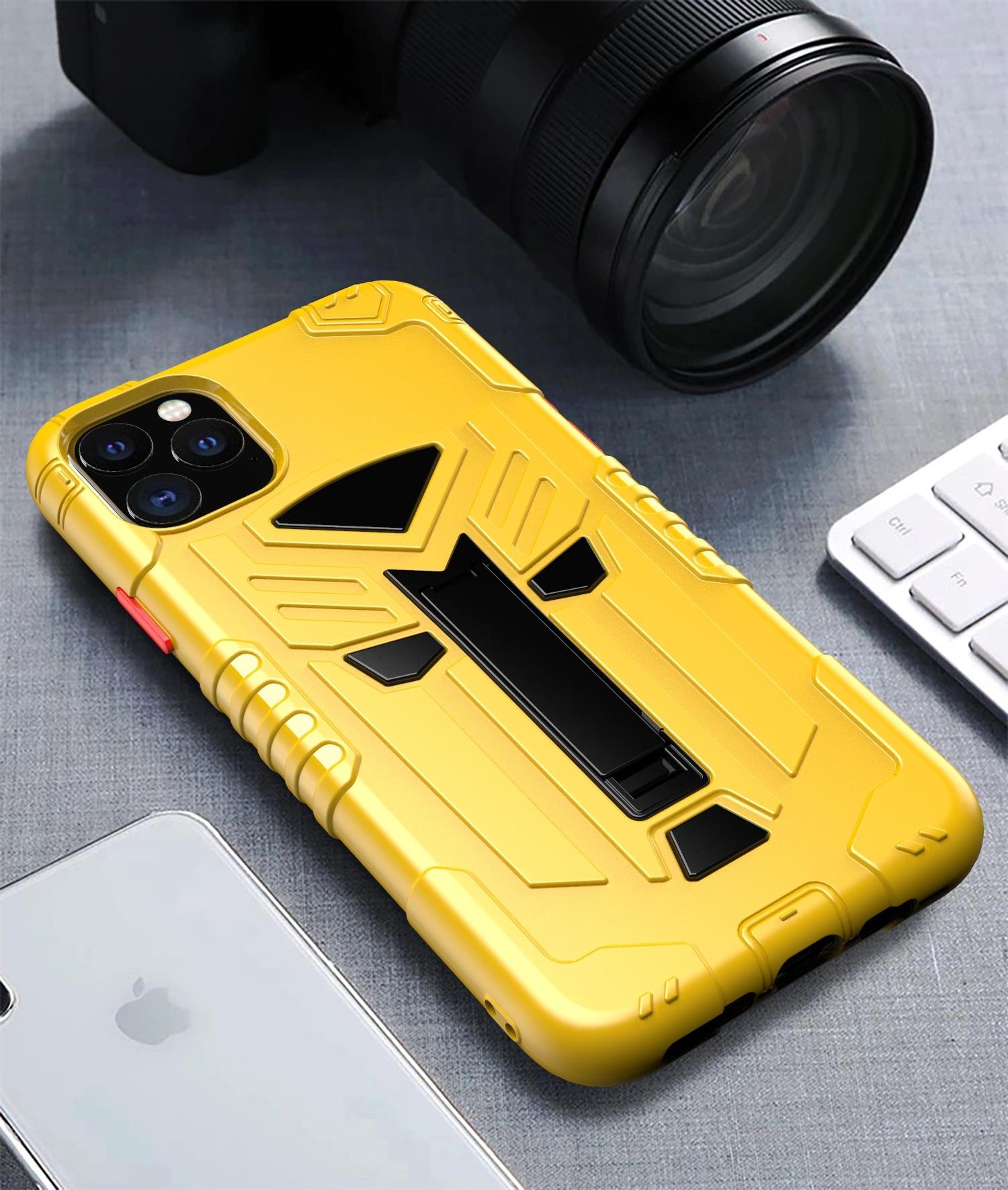Чехол для iPhone 11 Pro серии Dual X с магнитом и складной подставкой, желтого цвета от Caseport