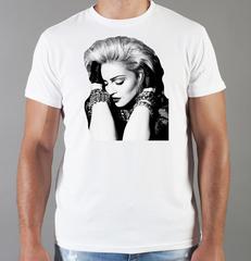 Футболка с принтом Мадонна (Madonna) белая 006