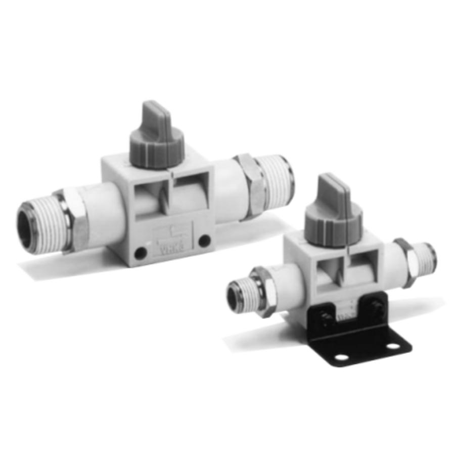 VHK2-04S-04S  2/2-Ручной пневмораспределитель