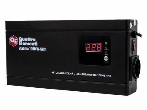 Стабилизатор напряжения QUATTRO ELEMENTI Stabilia    1000 W-Slim (1000 ВА, 140-270 В, 2,6  (772-562)