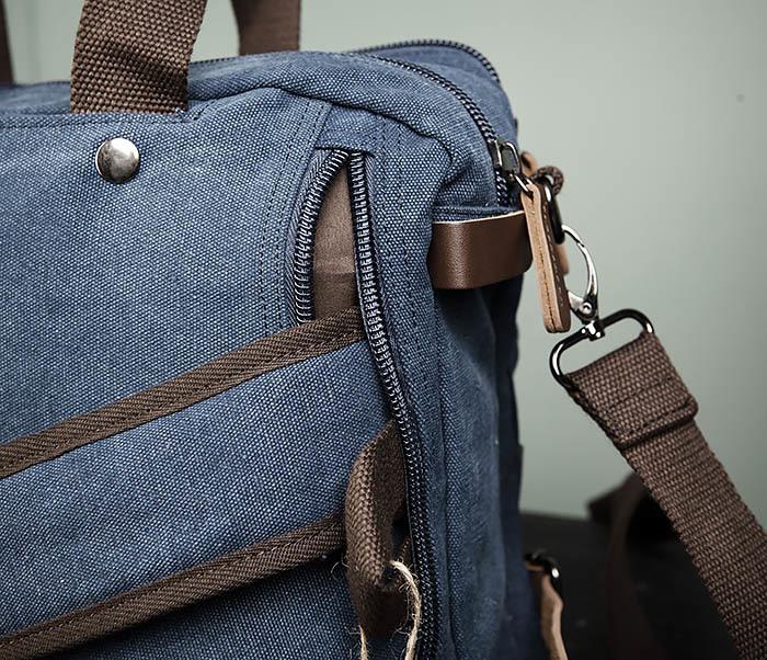 BAG475-3 Мужской городской рюкзак трансформер синего цвета фото 06