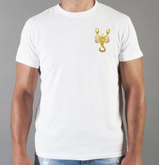 Футболка с принтом Знаки Зодиака, Скорпион (Гороскоп, horoscope) белая 0060