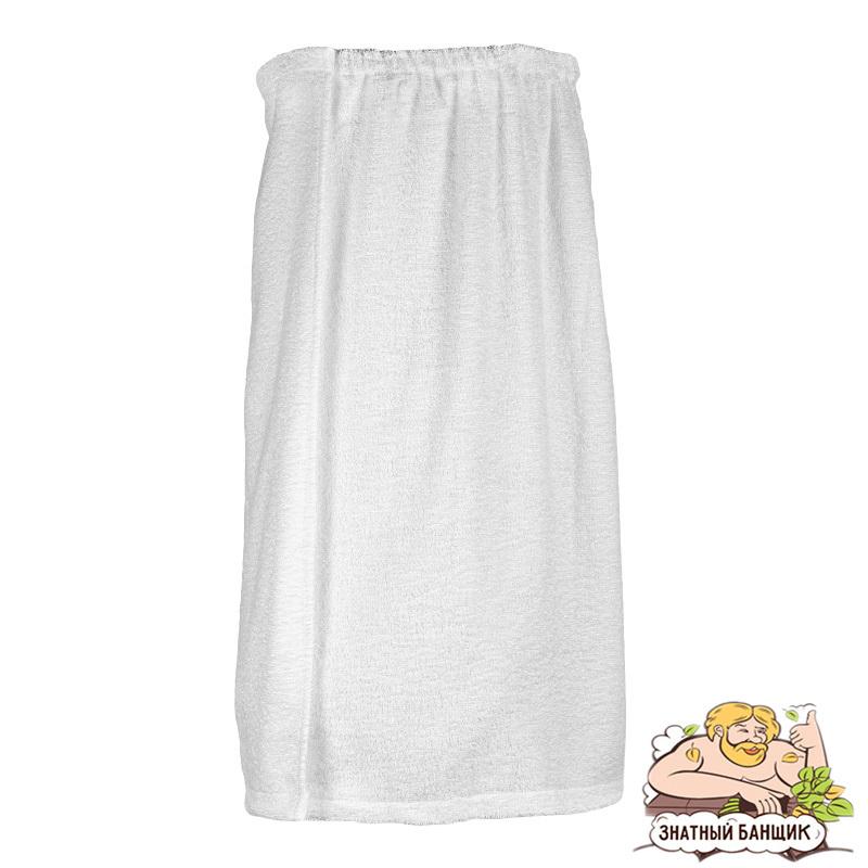 Парео белое махровое для женского набора