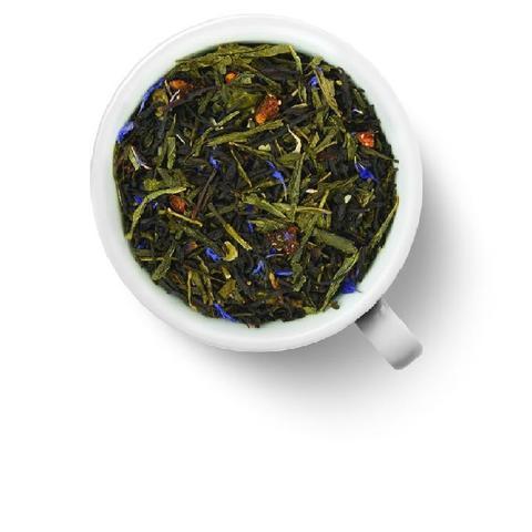 Клубника в шампанском чай черный с зеленым 100 гр.