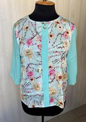 Ліза принт. Стильна блуза великих розмірів. М'ята