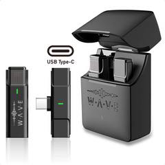 Беспроводной петличный микрофон Type-C с кейсом для зарядки и хранения