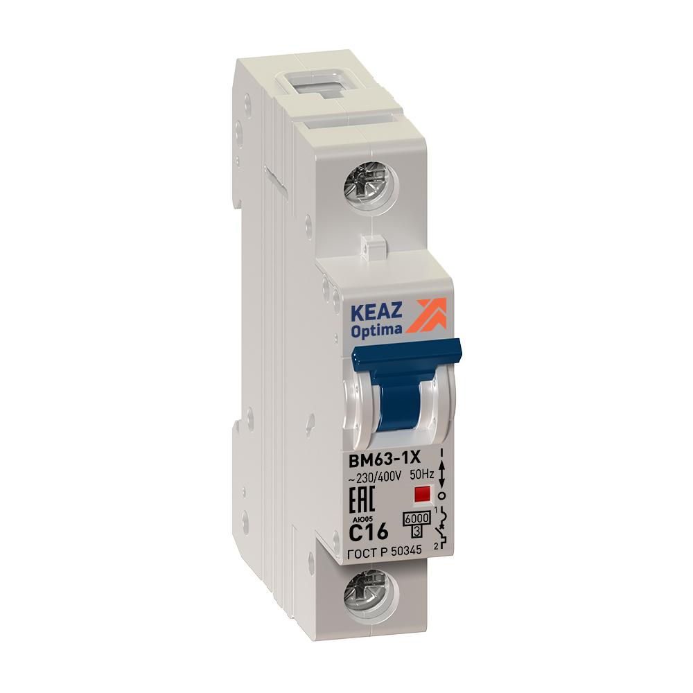 Выключатель автоматический модульный OptiDin BM63-1C1-УХЛ3 (ВМ63)