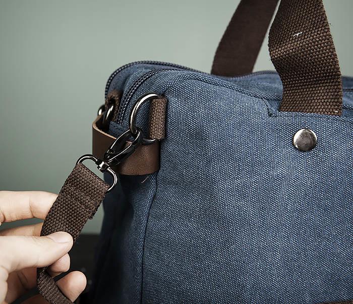 BAG475-3 Мужской городской рюкзак трансформер синего цвета фото 07