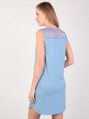 Евромама. Сорочка-халат на пуговках для беременных и кормящих, темно-голубой вид 4