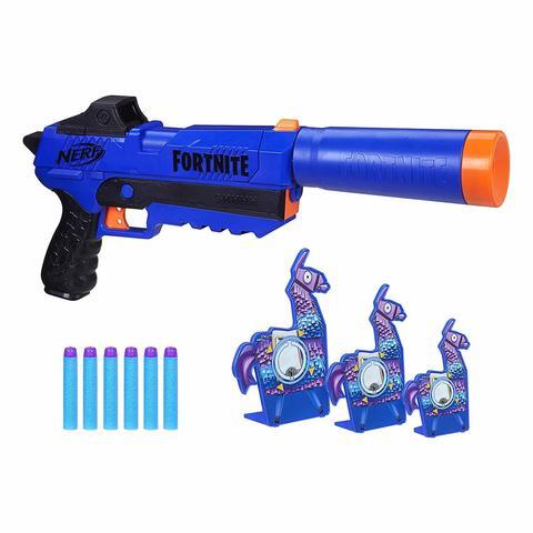 Бластер NERF Fortnite SP-R (синий Спрингер) с мишенями Llama