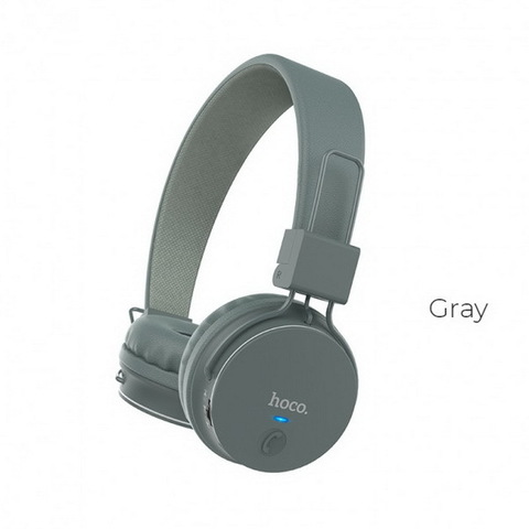 Наушники Bluetooth HOCO W19 Easy Move, (BT4.2, 6H) gray