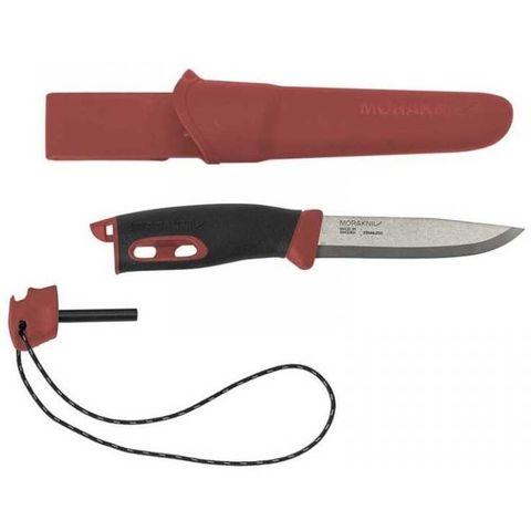 Нож Morakniv Companion Spark (13571) стальной разделочный лезв.104мм черный/красный