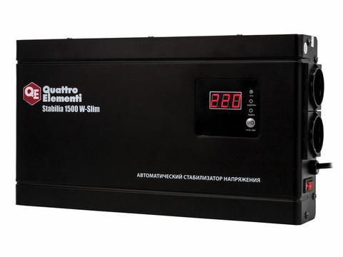 Стабилизатор напряжения QUATTRO ELEMENTI Stabilia    1500 W-Slim (1500 ВА, 140-270 В, 3,5  (772-579)