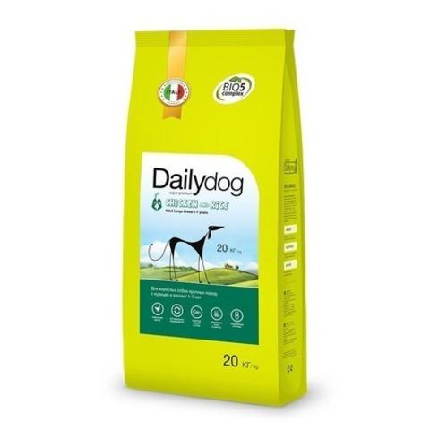 Сухой корм Dailydog Adult Large Breed Chicken and Rice для взрослых собак крупных пород с курицей и рисом, 20 кг.