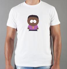 Футболка с принтом мультфильма Южный парк (South Park) белая 005