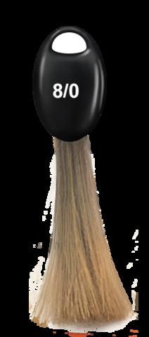 OLLIN N-JOY  8/0 – светло-русый, перманентная крем-краска для волос 100мл