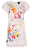 Цветочная сорочка с коротким рукавом Le Chat