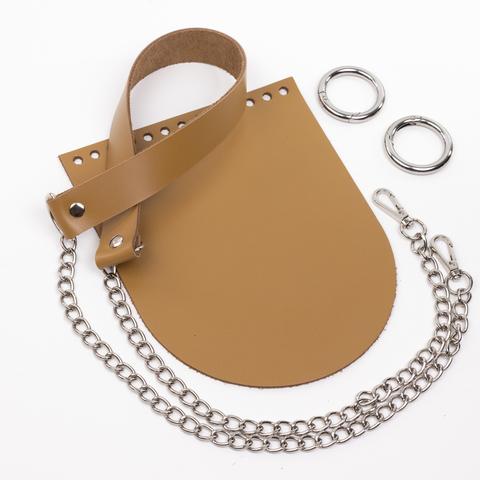 """Комплект для сумочки Орео """"Мёд"""". Ручка с цепочкой"""