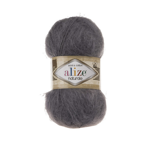 Пряжа Alize Naturale 370 темно-серый