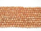 Нить бусин из солнечного камня, шар гладкий 4мм