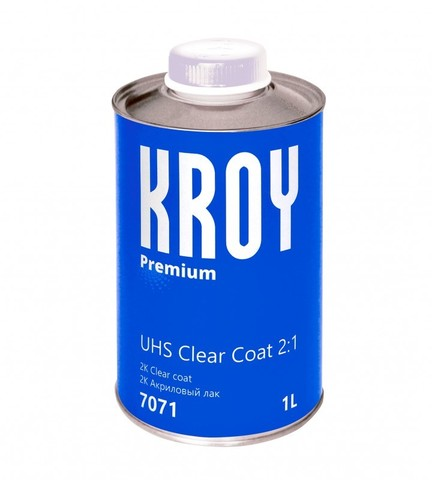 7071 KROY 2K Premium UHS Clear Coat 2:1 акриловый лак - 1 л.+ отверд.  KROY 2K Hardener UHS 0,5 л