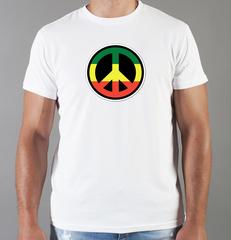 Футболка с принтом Боб Марли (Bob Marley) белая 003
