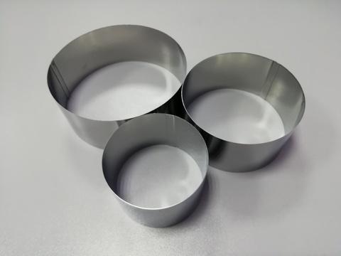 Набор колец для вырубки, выкладки, выпечки, 3 шт (6,8,10см H4 см)