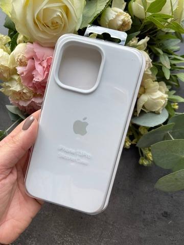 Чехол iPhone 13 Pro Max Silicone Case Full /white/