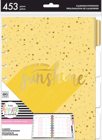 Дополнительный блок  для ежедневника Monthly Sunshine - Twelve Month Extension Pack - Classic