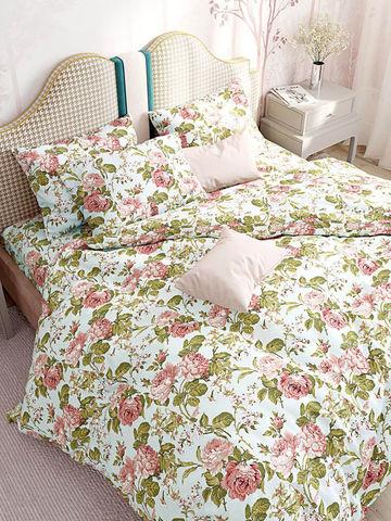 Пододеяльник  -Прохоровская роза (новая)- 2-спальный на молнии 175х215 см
