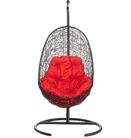 Кресло подвесное Ewerton Black красная подушка