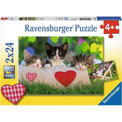 Puzzle Sleepy Kittens 2x24 pcs