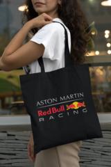 Женская сумка-шоппер с принтом Астон Мартин (Aston Martin) черная 001