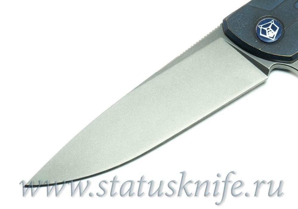 Нож Широгоров Flipper 95 М390 S Т узор анодирование - фотография
