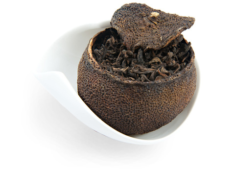 Чай Пуэр в мандарине. Интернет магазин чая
