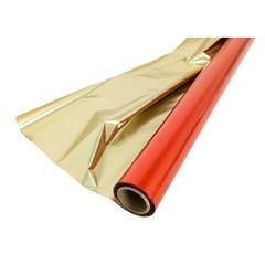 Полисилк (1 х 50 м) Красный + Матовое Золото