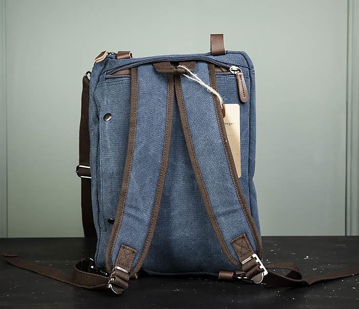 BAG475-3 Мужской городской рюкзак трансформер синего цвета фото 09