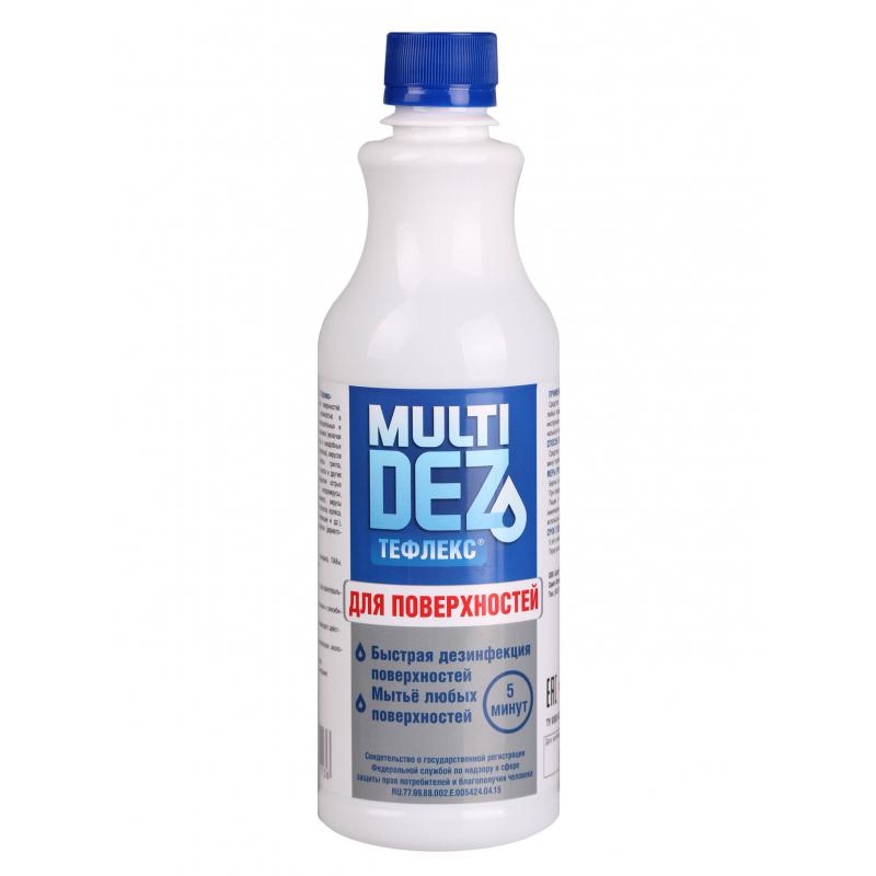 Дезинфекторы для маникюрных инструментов Тефлекс, Мультидез средство для мытья и дезинфекции поверхностей, 500 мл для_поверхностей_обычное.jpeg