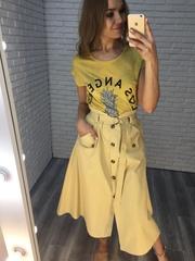 длинная желтая юбка купить