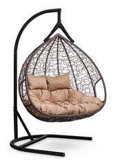 Подвесное кресло для двоих FISHT коричневое