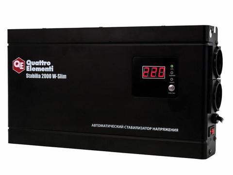 Стабилизатор напряжения QUATTRO ELEMENTI Stabilia    2000 W-Slim (2000 ВА, 140-270 В, 4,1  (772-586), шт