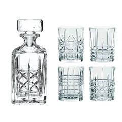Набор из 4 хрустальных стаканов для виски и декантера Highland, фото 2