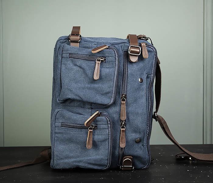 BAG475-3 Мужской городской рюкзак трансформер синего цвета фото 10