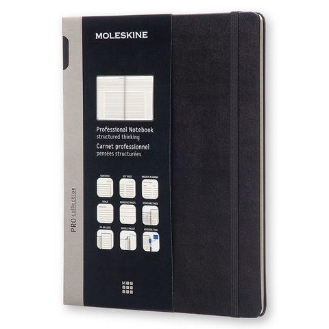 Блокнот Moleskine PROFESSIONAL PROPFNT4HBK XLarge 190х250мм 192стр. твердая обложка черный