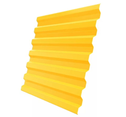 Профнастил С8х1220 мм RAL 1018 Желтый