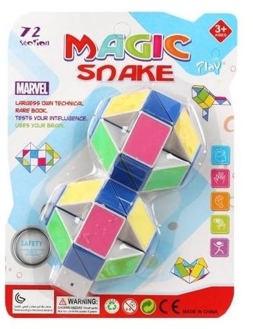 Змейка логика 24 звена разноцветная блистер