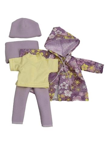 Комплект с плащем - Сиреневый. Одежда для кукол, пупсов и мягких игрушек.