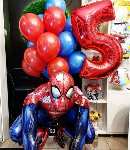 Сет воздушных шаров с ходячим Человеком-пауком
