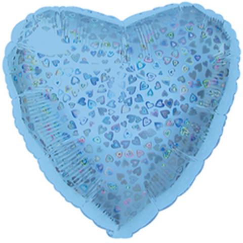 Сердце, Голубой, голография, 18