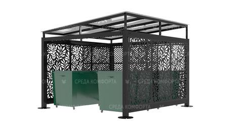 Навес для мусорных контейнеров ( без ворот) NVS0029